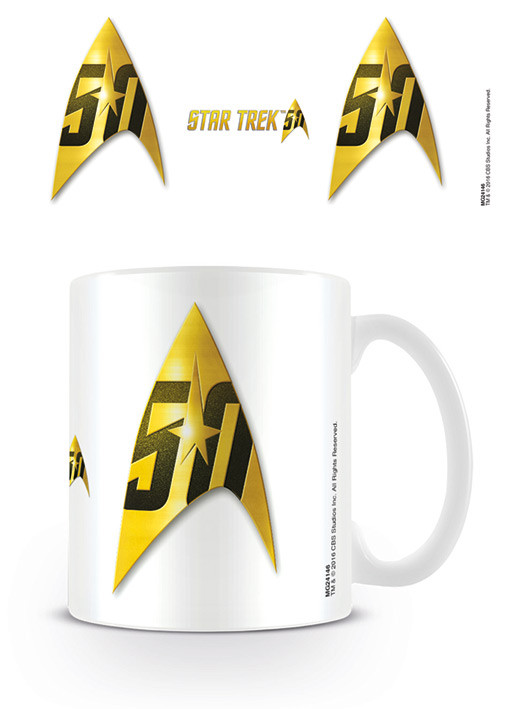 Hrnek  Star Trek: 50 Insignia - 50th Anniversary