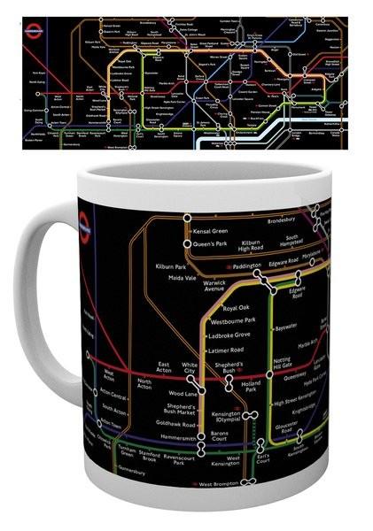Hrnek Transport For London – Black Map
