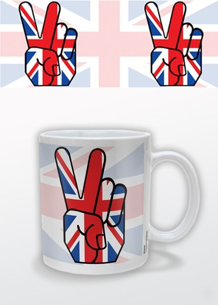 Hrnek Union Jack Peace