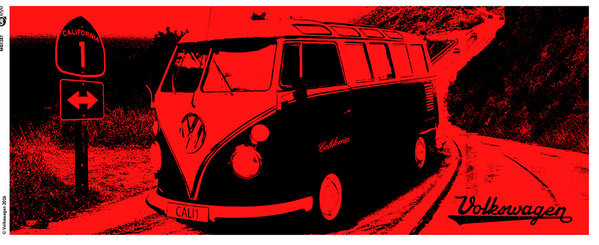 Hrnek  VW Camper - California Red