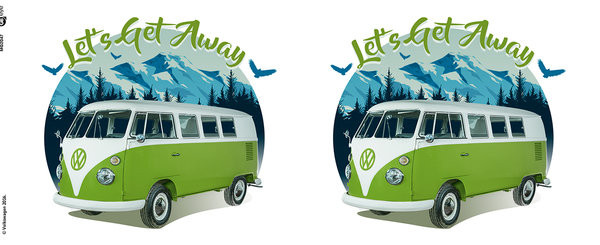 Hrnek  VW Camper - Lets Get Away