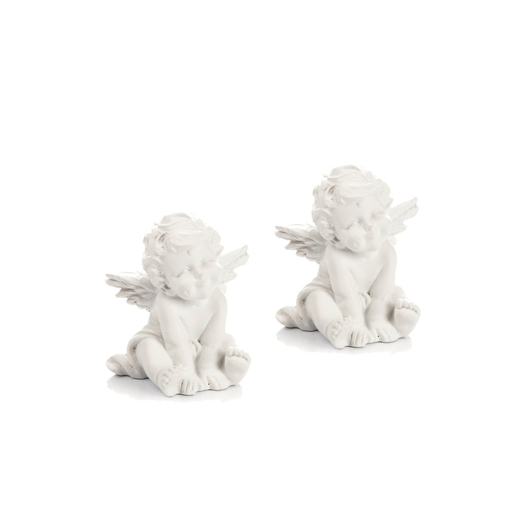 Angel Sitting Leaning, 5 cm, set of 2 pcs Huis Decoratie