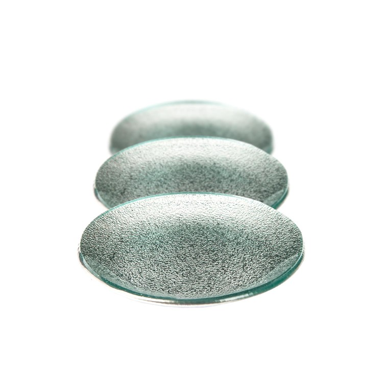 Candle Coaster Round Silver 12 cm, set of 3 pcs Huis Decoratie