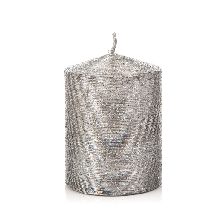 Candle Cylinder 7 * 12,5 cm 406 g SILVER Huis Decoratie