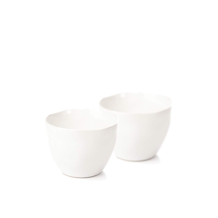Candle Holder for Tealight Candles, 10 cm White, set of 2 pcs Huis Decoratie