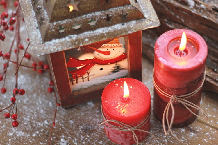 Candle with Lid-Cinnamon, Red, 14cm Huis Decoratie