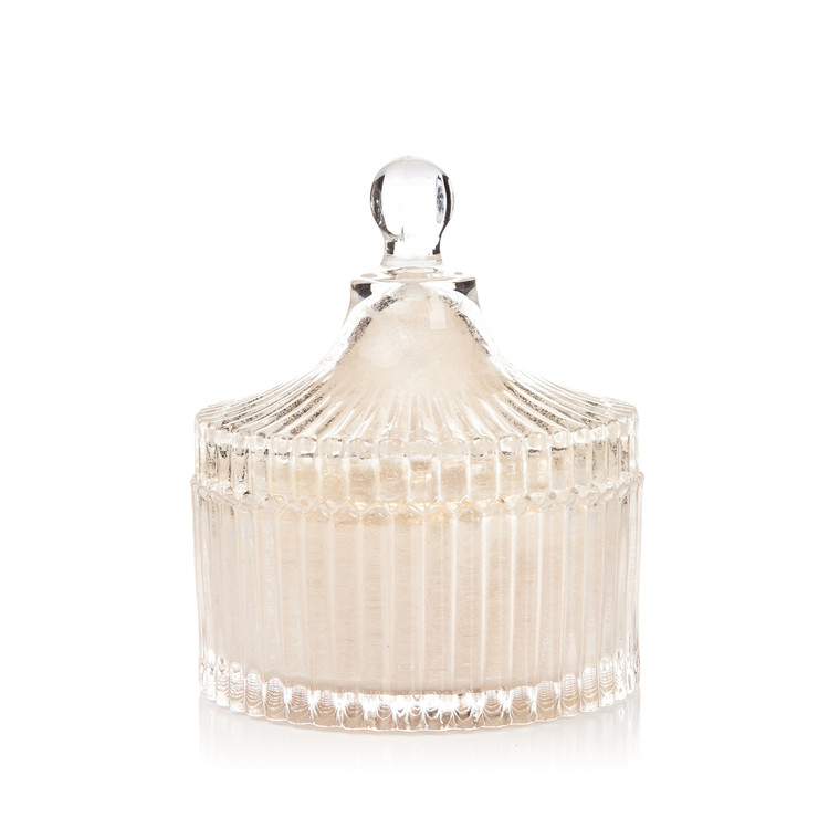 Candle with Lid Metal - Vanilla, White 12,5 cm Huis Decoratie