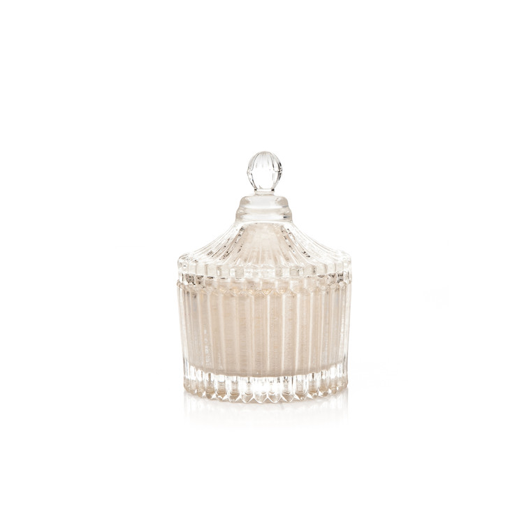 Candle with Lid Metal - Vanilla, White 9 cm Huis Decoratie