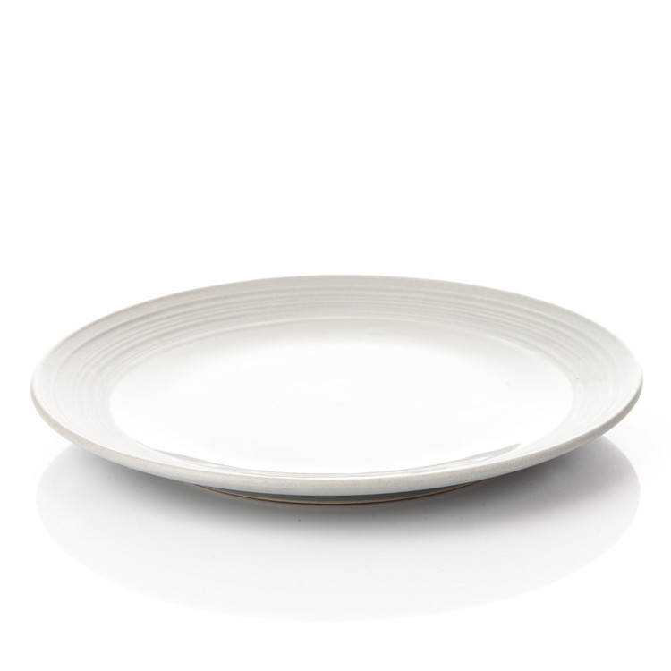 Plate Grainy Texture, 21 cm Light Gray Huis Decoratie