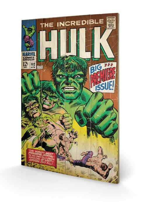 Hulk - Big Issue plakát fatáblán