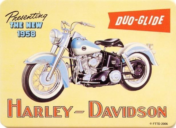 HARLEY DAVIDSON - duo Hűtőmágnes