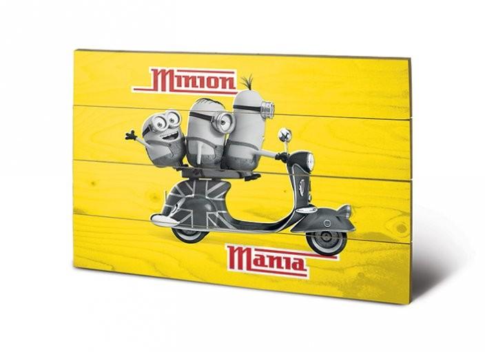 Poster su legno I Minion (Cattivissimo me) - Minion Mania Yellow
