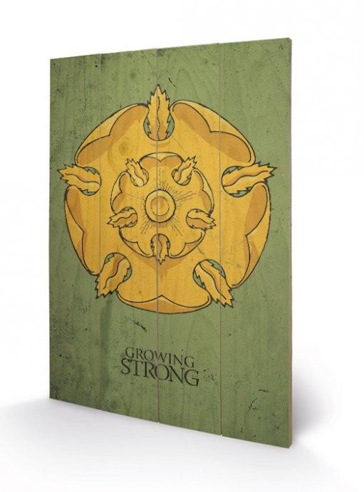 Poster su legno Il Trono di Spade - Game of Thrones - Tyrell