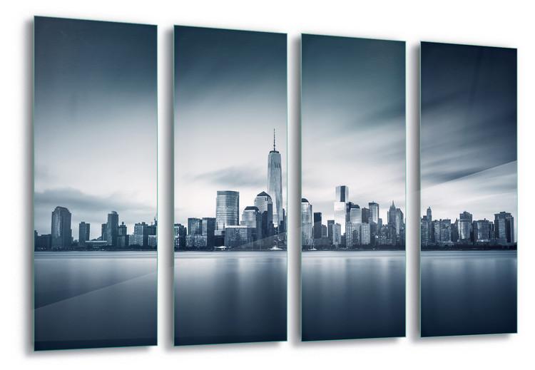 Cuadro en vidrio  Blue Manhattan