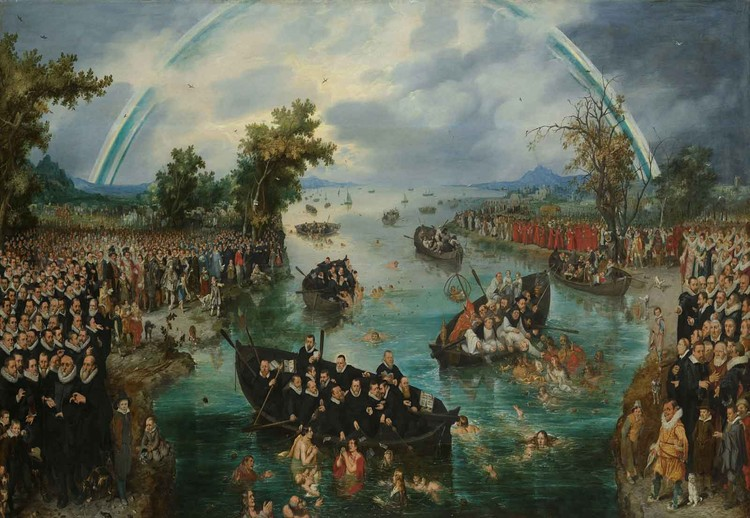 Cuadro en vidrio  Fishing For Souls, Van De Venne