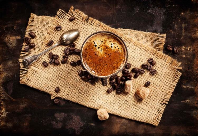 Cuadro en vidrio  Hot Coffee