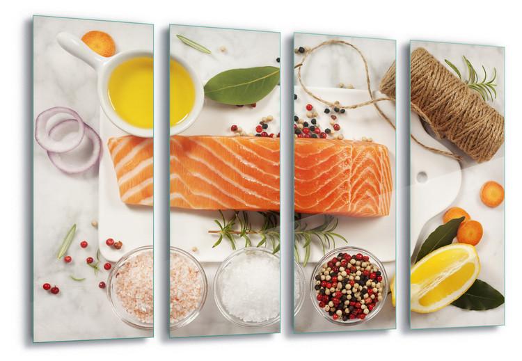 Cuadro en vidrio  Salmon Parcel