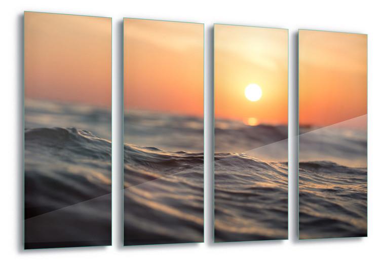 Cuadro en vidrio Sunset Surf