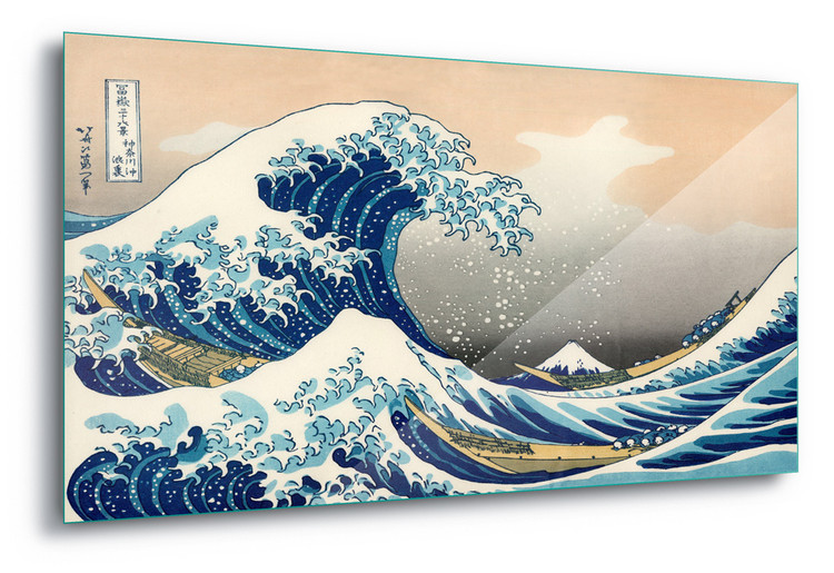 Cuadro en vidrio  The Great Wave Off Kanagawa, Hokusai