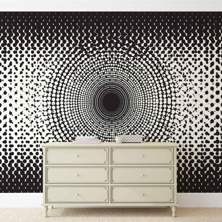Fototapeta Abstraktní umění černobílé