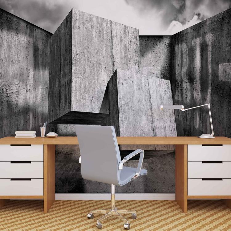 Fototapeta Abstratkní umění - Betonové kvádry