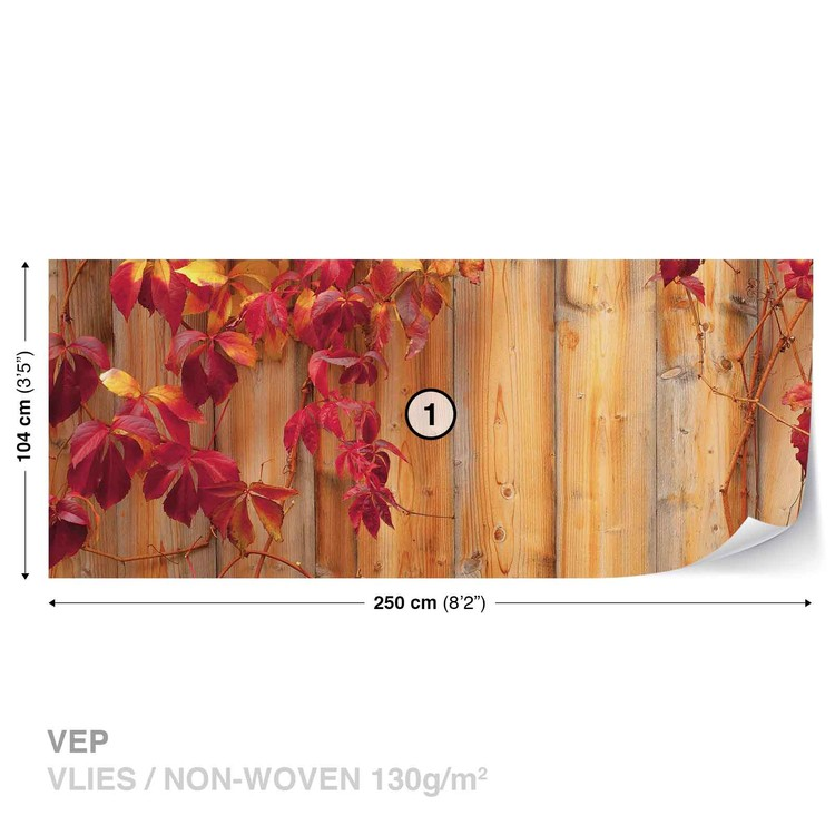 Fototapeta Dřevěný plot, Květiny