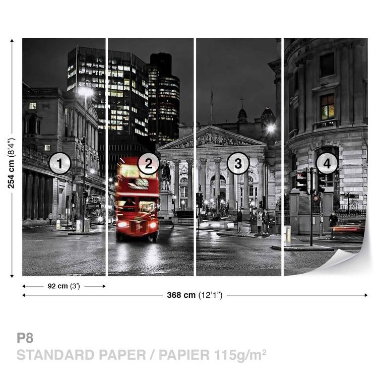 Fototapeta Město Londýn, Červený autobus