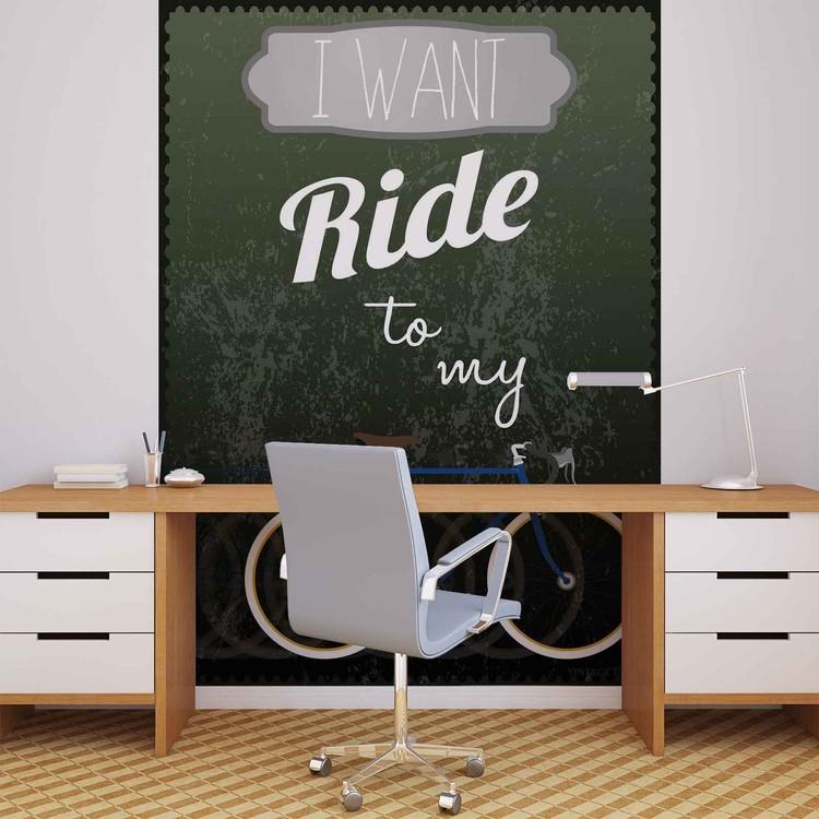 Fototapeta Nápis I want to ride my bicycle