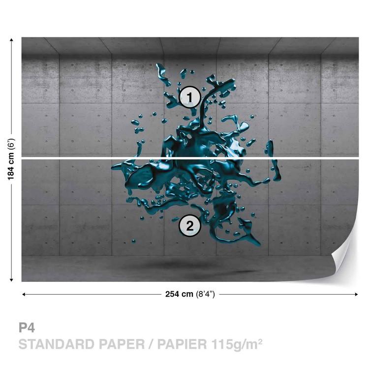 Nowoczesny wzór - trójwymiarowa niebieska plama Fototapeta