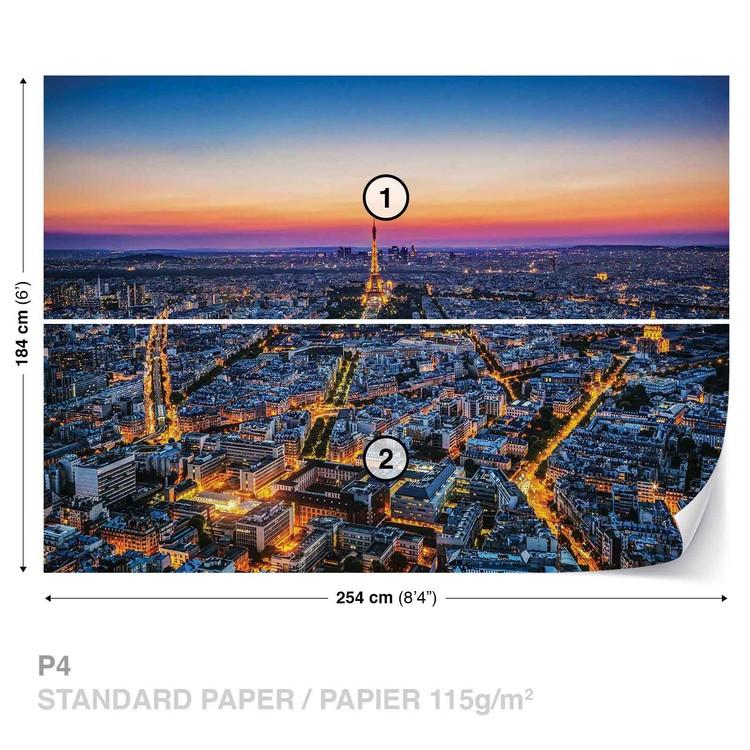 Fototapeta Západ slunce Eiffelova vež