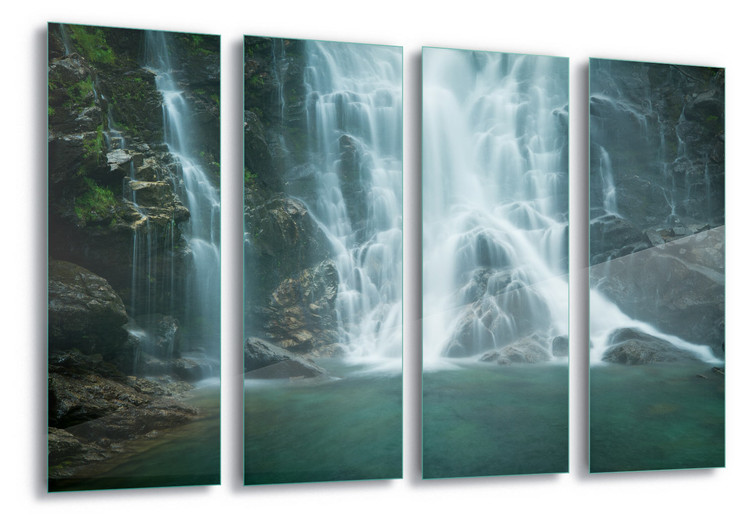 Glasschilderij Cascades