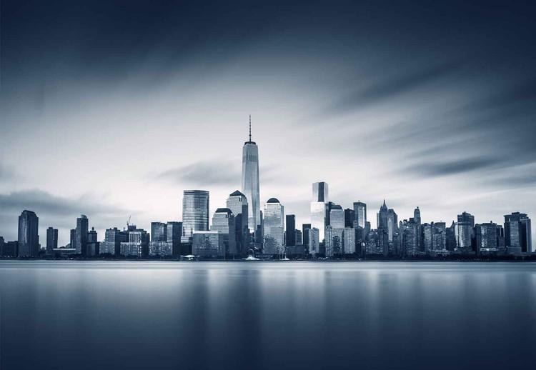Skleněný Obraz Blue Manhattan