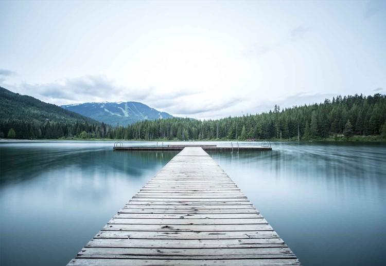 Skleněný Obraz  Lake Pier