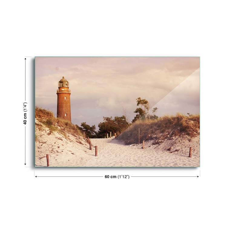 Skleněný Obraz Pastel Lighthouse