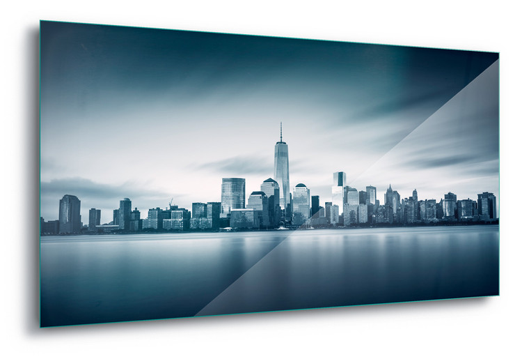 Blue Manhattan Staklena slika