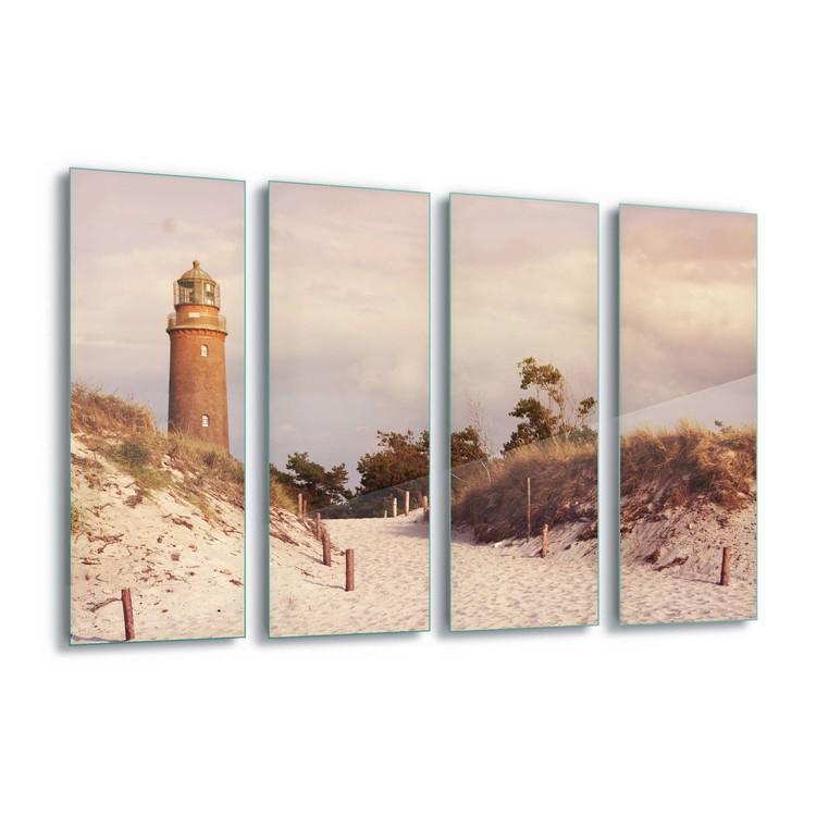 Pastel Lighthouse Staklena slika