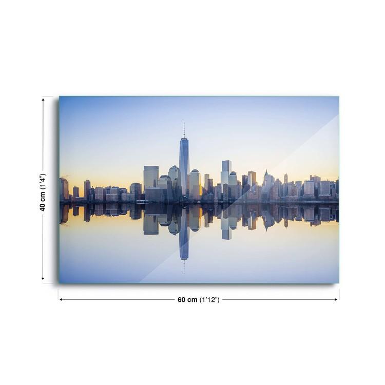 Tableau Mural Sur Verre Manhattan Mirror Acheter Le Sur