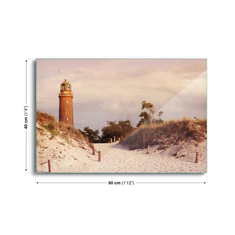 Tableau Mural Sur Verre Pastel Lighthouse Acheter Le Sur
