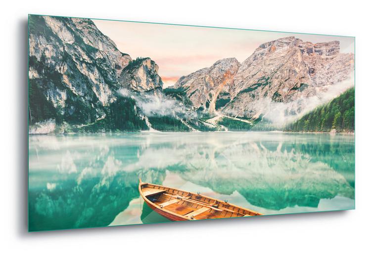 Tableau sur verre  Turquoise Lake