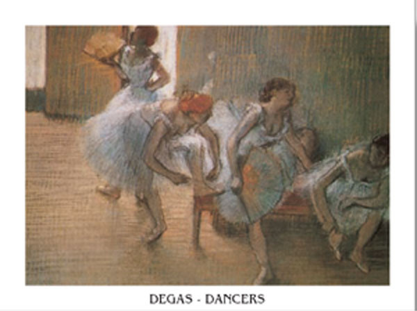 In the Dance Studio, 1901 Festmény reprodukció