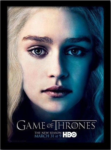 GAME OF THRONES 3 - daenery indrammet plakat