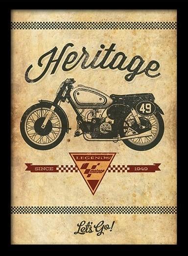 MOTO GP - heritage indrammet plakat