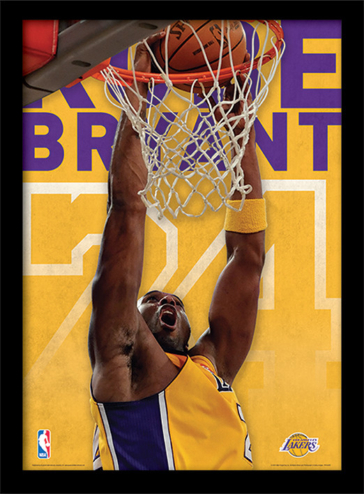 NBA - Kobe Bryant indrammet plakat
