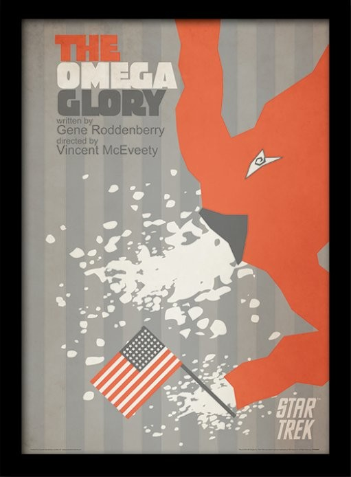 Star Trek - The Omega Glory indrammet plakat
