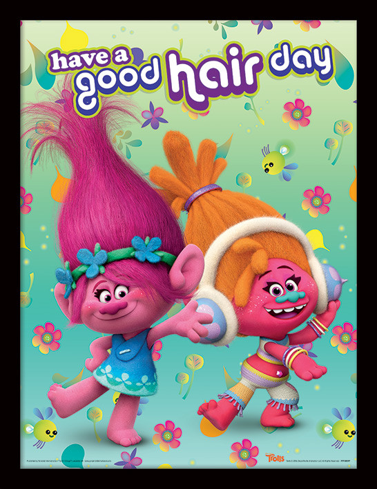 Trolls - Have A Good Hair Day indrammet plakat