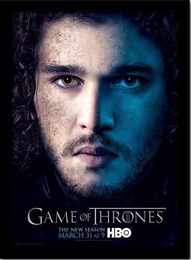 GAME OF THRONES 3 - jon Indrammet plakat