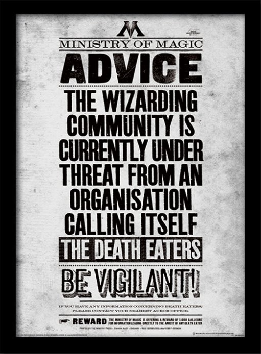 Harry Potter - Be Vigilant Indrammet plakat