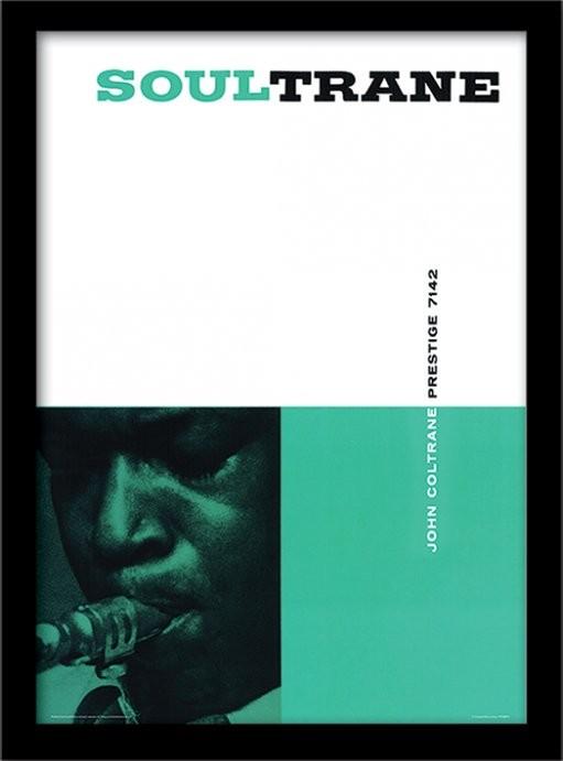 John Coltrane - Soultrane Indrammet plakat