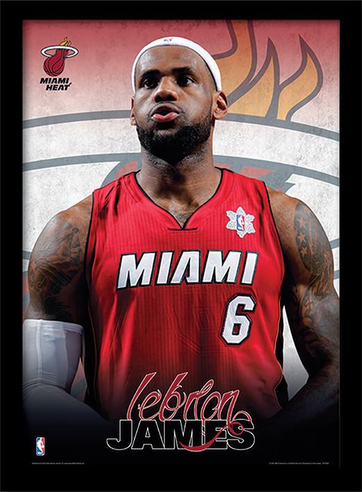 NBA - Lebron James Indrammet plakat