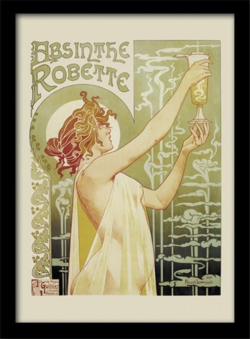 Absint - Absinthe Robette ingelijste poster met glas